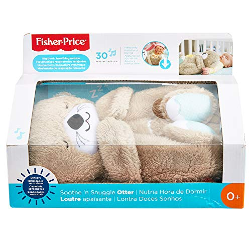 Fisher-Price Original Soothe 'N Snuggle Otter, Soothing Toy with Light, Music and Breathing Motion!