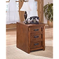 Medium Brown File Cabinet Dimensions: 17.50W x 22.13D x 24.00H Weight: 66 Lbs