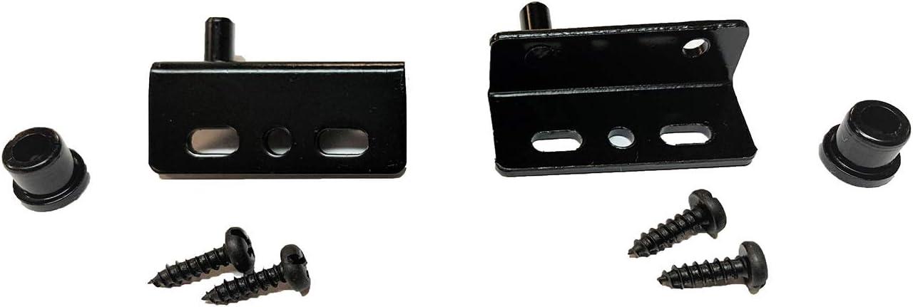 Hillman 59281 Black Pivot Hinges with Bushing 3-Pack
