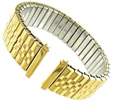 Men's Gold Plated Metal Expansion 17-21mm Replacement Watchband
