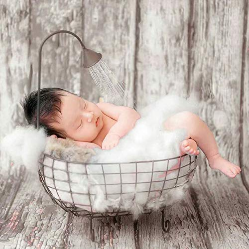 ZAMTAC Iron Studios Basket Shower Bathtub Prop Newborn Baby Photography Accessories Shooting Photo Posing Baby Photography Props - (Color: White) by ZAMTAC (Image #2)