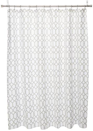 Tommy Bahama 200781 Cotton Shower Curtain, Shoretown Trellis Gray