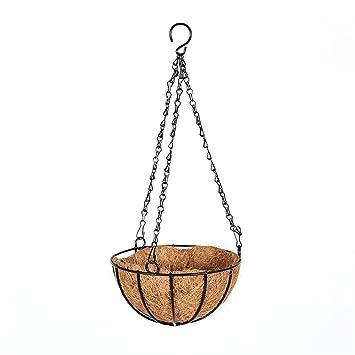 Hängender Rattan Woven Chain Basket Topfpflanze Blumentopf Halter Blumenampel DE