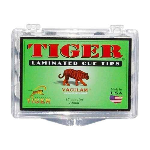 (Tiger Laminated Tips, Medium,14mm (Box of 15))