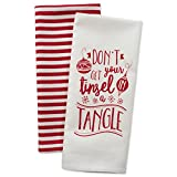 DII Cotton Christmas Holiday Dish Towels, 18x28 Set of 2, Decorative Oversized Kitchen Towels, Perfect Home and Kitchen Gift-Tinsel in a Tangle