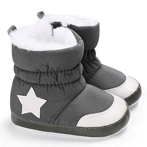 Igemy Schnee Stiefel Baby Mädchen Jungen Weiche Beuten Säugling Kleinkind Neugeborene Aufwärmen Schuhe 1 Paar Schwarz