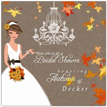 Amazon autumn romance brunette bridal shower invitations autumn romance brunette bridal shower invitations filmwisefo