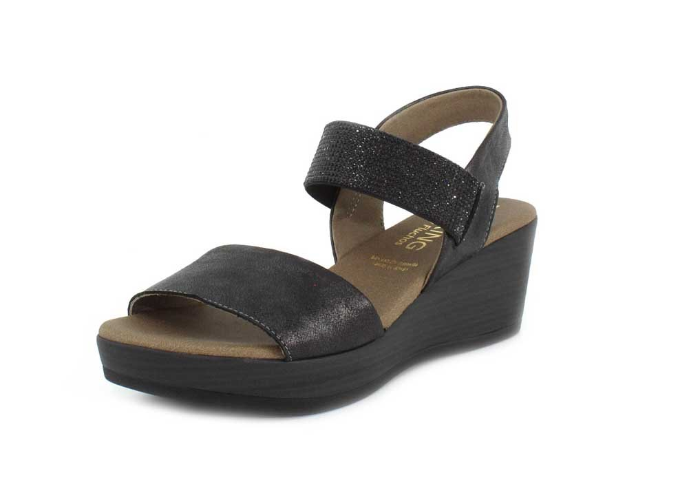 Dorking Womens Babor Wedge Sandal B07B6M1QXY 41 M EU|Black