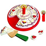 Viga Wooden Cutting Birthday Cake Set