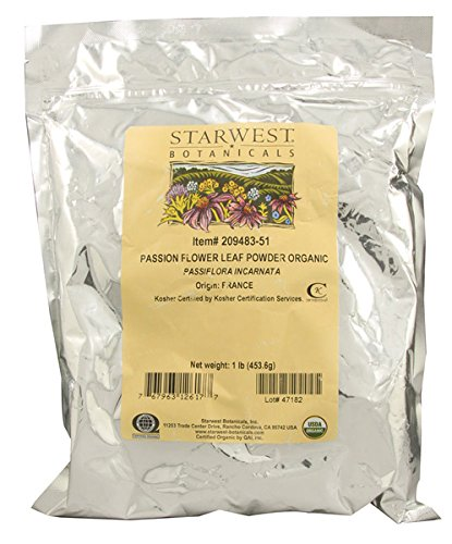 Organic Passion Flower Leaf Powder - 1 lb