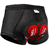 X-TIGER Men's Cycling Underwear Shorts 5D Padded Gel,MTB Biking Shorts Pants with Breathable,Adsorbent Design