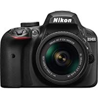 Nikon D3400 + AF-P 18-55mm Lens Kit, Black