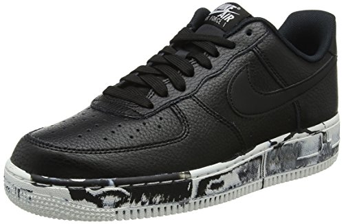 Nike Mens Air Force 1 Low LV8 Marble Basketball Shoes Black/Summit White AJ9507-001 Size 13
