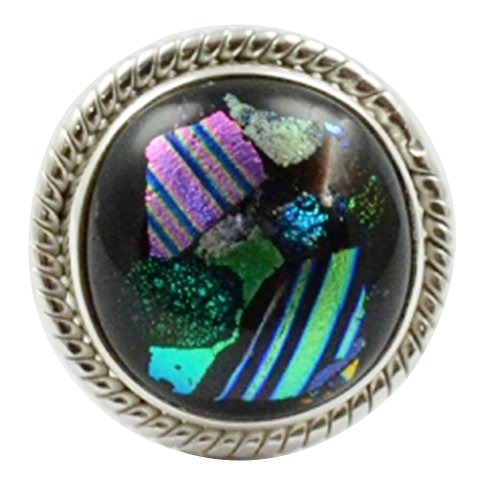 - Lovegem Genuine Dichroic Glass Ring 925 Sterling Silver,Size:5.5, AR3068