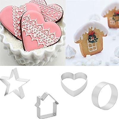 Big Sale 1Pcs/Set DIY Cake Cutting Aluminium Alloy Gingerbread Men Shaped Holiday Biscuit Mold Kitchen Cake Decorating Tools