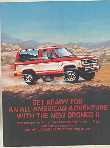 1983 Ford Bronco II Truck Factory Contest Adventure Club (Ford Bronco Brochure)