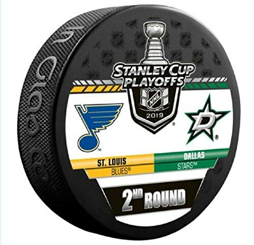 2019 Stanley Cup Playoffs Hockey Puck 2ND Round Stars VS. Blues Souvenir Puck Finals PRE-Order Item - Shipping Begins April 30TH (Louis Blues Fan)