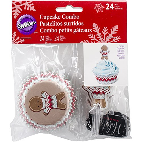 Wilton 415-2607 Christmas Holiday Sweet Swap Cupcake Combo Baking Cups and Picks