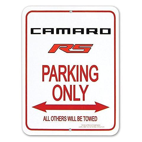 Camaro RS Logo Parking Only Sign - 9