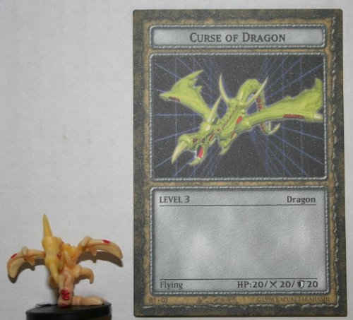 B1-03 Curse Of Dragon Level 3 American Yugioh DungeonDice Series 1 DragonFlame Single Dungeon Dice Monster And Card