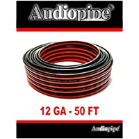 Audiopipe 12 Gauge 50 Red Black Car Audio Stereo Wire Copper Clad Zip Cable