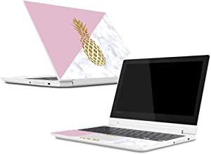 MightySkins Skin Compatible with Lenovo Chromebook C330 (2018) - Pretty Pineapple | Protective, Durable, and Unique Vinyl Decal wrap Cover | Easy to Apply, Remove, and Change Styles | Made in The USA
