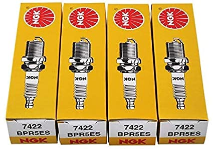 NGK Bujía BPR5ES 7422 Pack de 4: Amazon.es: Coche y moto