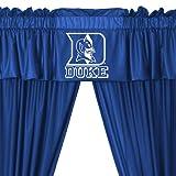 NCAA Duke Blue Devils 5pc Long Curtain-Drapes Valance Set