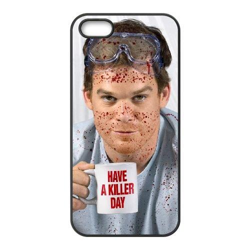 Dexter Blood 011 coque iPhone 5 5S cellulaire cas coque de téléphone cas téléphone cellulaire noir couvercle EOKXLLNCD23203