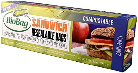 BioBag Count Resealable Sandwich Bags