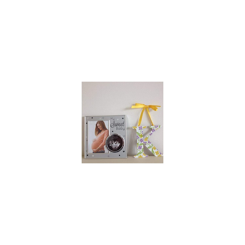 Malden International Designs My Sweet Baby Ultrasound Photo Picture Frame, 4×6, Silver