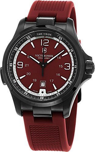 Victorinox 241717 Swiss Army Men's Night Vision Red Rubber Strap Watch