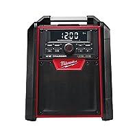 Milwaukee 4933446639 Netz/Akku-Radio M18RC/0, 40 W Verstärker, 18V