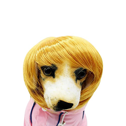 Boomtrader Dog For Wig Costume Adjustable Fancy Hair Halloween Dog Decoration Pet Wig - Adult Wiggles The Clown Costumes