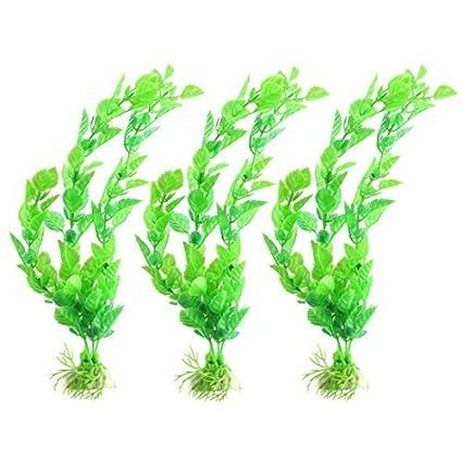 eDealMax Paisaje planta plástico Familia de la Hierba de pescado del acuario del tanque de agua