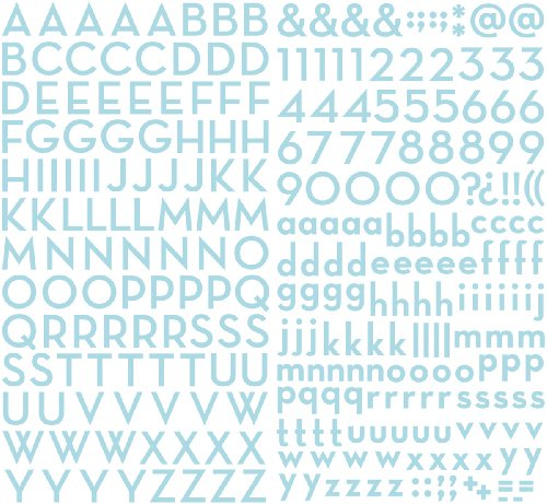Aqua Shimmer (Making Memories Mini Shimmer Alpha Stickers 281/Package, Metro Aqua)