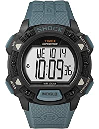 Timex Men's TW4B09400GP Sport Expedition Digital Shock with Blue Plastic Strap