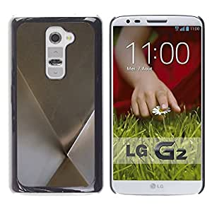 "Pulsar Snap-on Series Teléfono Carcasa Funda Case Caso para LG G2 , Patrón de metal minimalista Plata"""