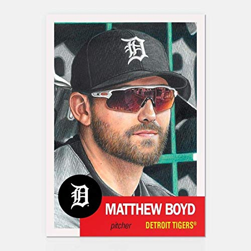 (2019 Topps The MLB Living Set Baseball #129 Matthew Boyd Detroit Tigers Official MLB Trading Card Online Exclusive SOLD OUT Limited Print Run)