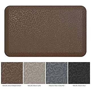 NewLife by GelPro Professional Grade Anti-Fatigue Kitchen & Office Comfort Bio-Foam Mat with non-slip bottom for health & wellness, 20x32, Vine Brown
