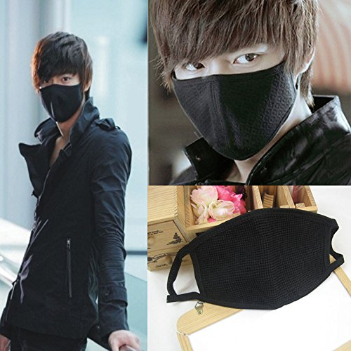 5pcs Luxury New Unisex Men Women Cycling Anti-dust Cotton Mouth Face Mask (black) by Sinlifu (Image #2)