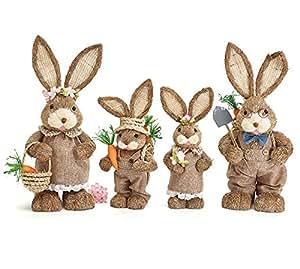 Burton & Burton Sisal Bunny Family