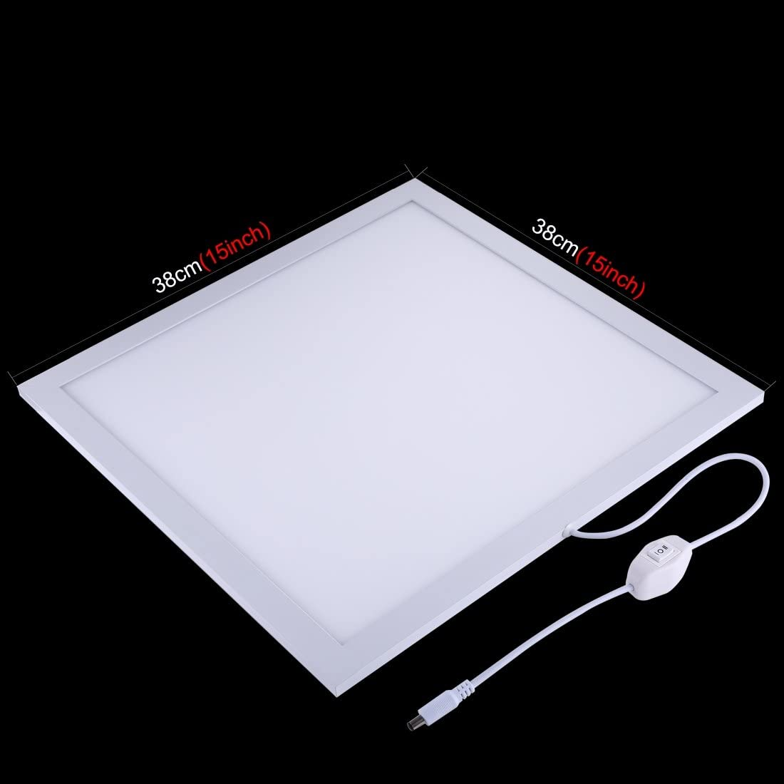 Color : Color4 Acrylic Material 34.7cm x 34.7cm Effective Area Durable CAOMING 1200LM LED Photography Shadowless Light Lamp Panel Pad with Switch No Polar Dimming Light