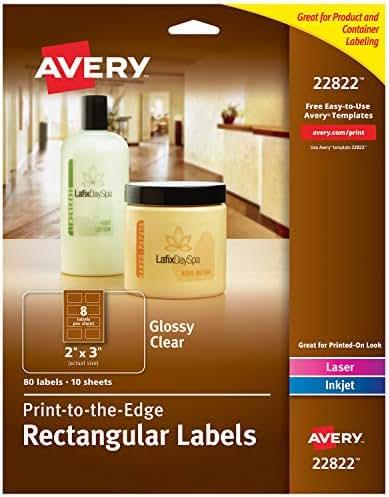 Avery Rectangle Labels for Laser & Inkjet Printers, 2