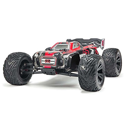 ARRMA KRATON 6S BLX 4WD Electric RC RTR Remote Control Speed Truck with 2.4GHz Radio, Servo, Brushless ESC/Motor, 1:8 Scale, (Black/Red)