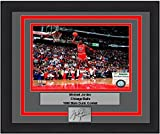 "Chicago Michael Jordan 1988 Slam Dunk Contest 8"" x 10"" Framed and Matted Basketball Photo with Engraved Signature"