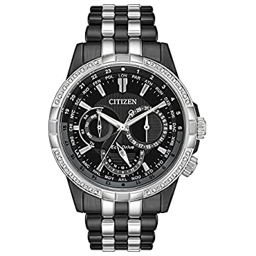 Men's Citizen Eco-Drive Calendrier Two-Tone Bracelet Watch BU2088-50E