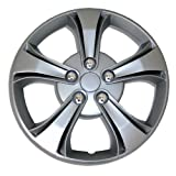 hyundai 14 wheel cover - TuningPros WSC-616S14 Hubcaps Wheel Skin Cover 14-Inches Silver Set of 4