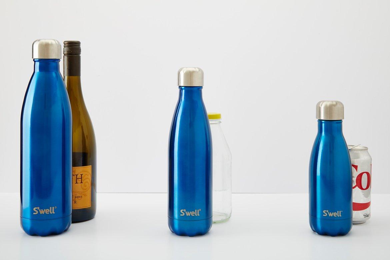 amazon com s well teakwood water bottle 17 oz kitchen dining