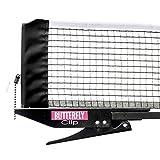 Butterfly Clip Table Tennis Net & Post Set
